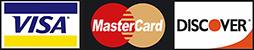 Visa, MasterCard, and Discover Logos